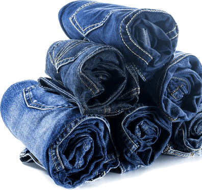 rolled denim jeans