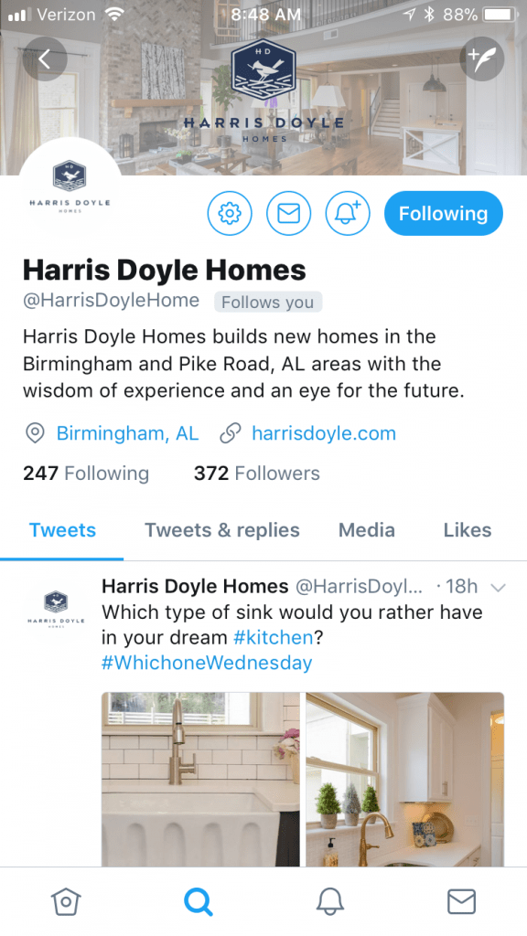 Harris Doyle Homes Twitter