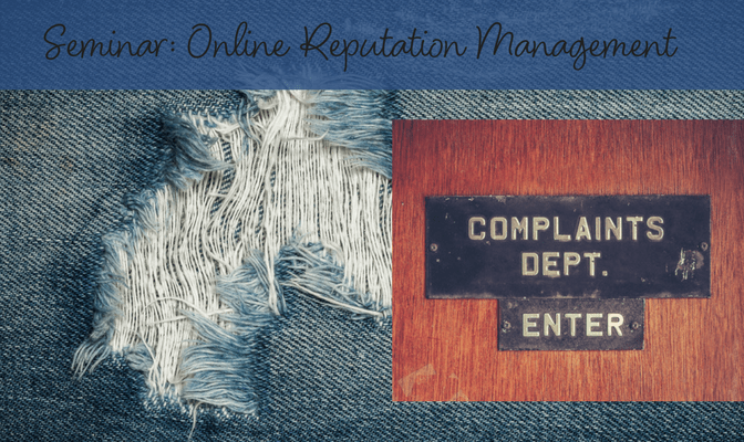 online reputation management seminar