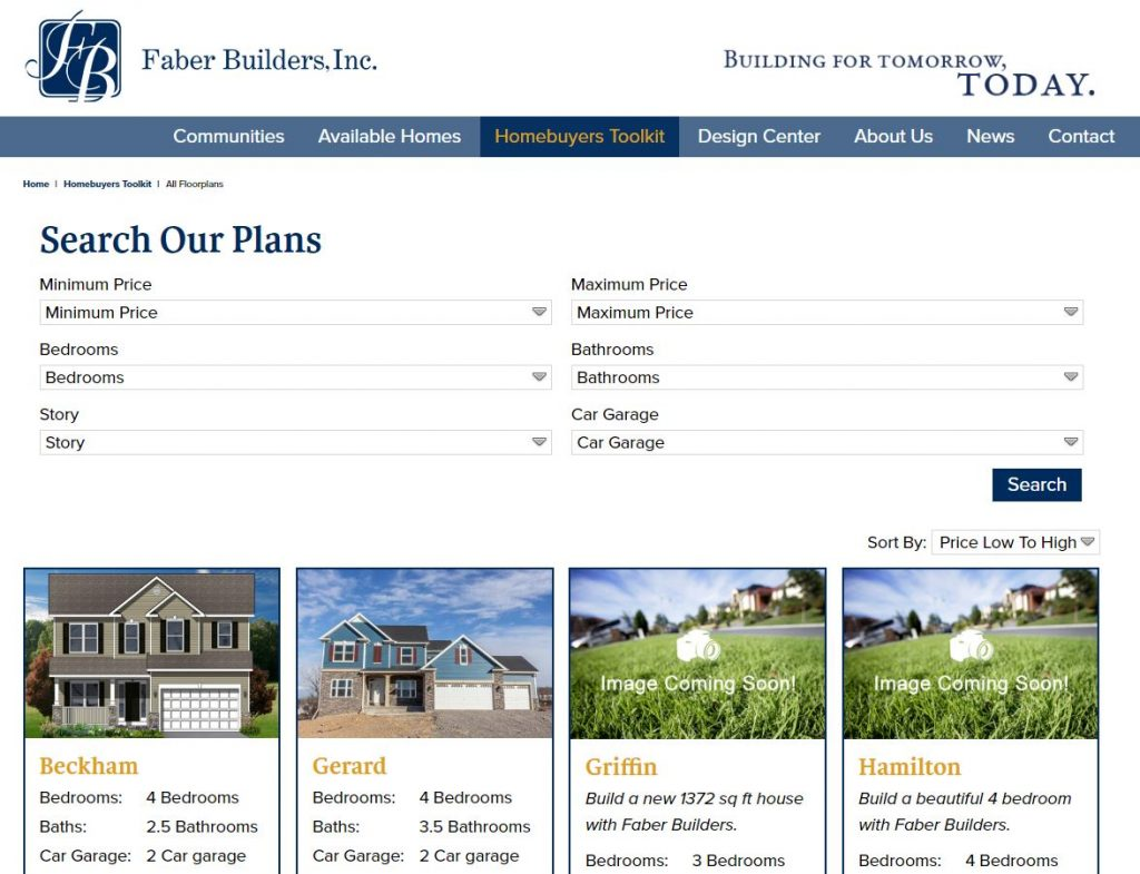 faber website home plans