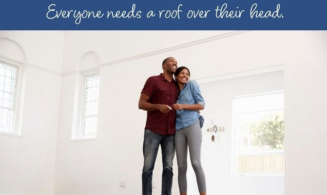 Everyone needs a roof - young couple