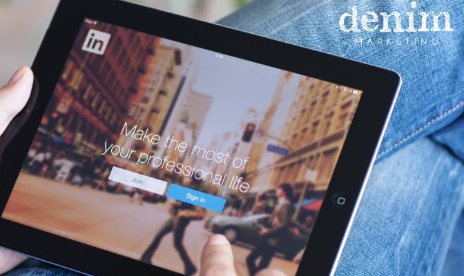 LinkedIn website on iPad