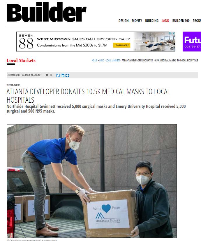 Builder article on CSR