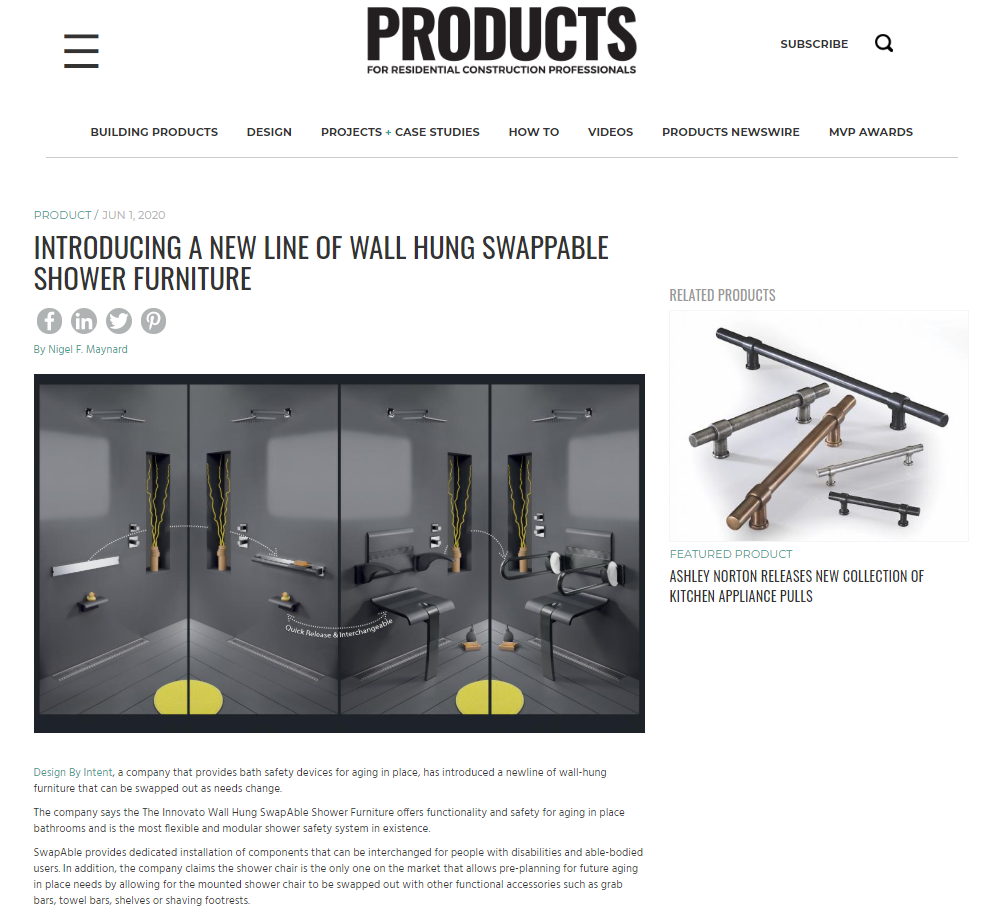 PRODUCTS placement featuring Design by Intent