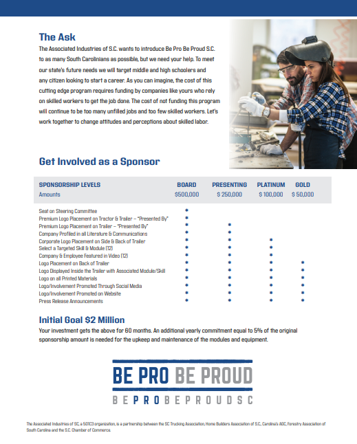 Be Pro Be Proud Brochure Back Cover