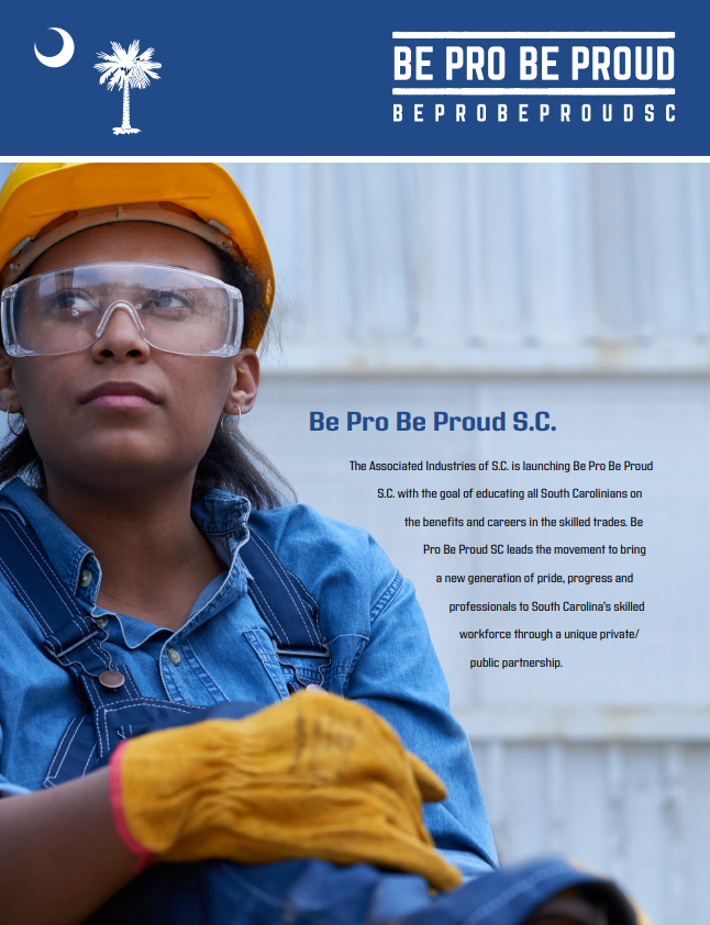 Be Pro Be Proud SC Brochure cover