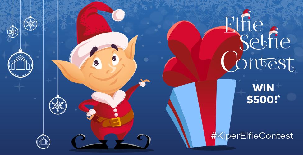 Kiper Elfie Selfie holiday social media campaign banner