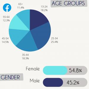 Facebook social media statistics