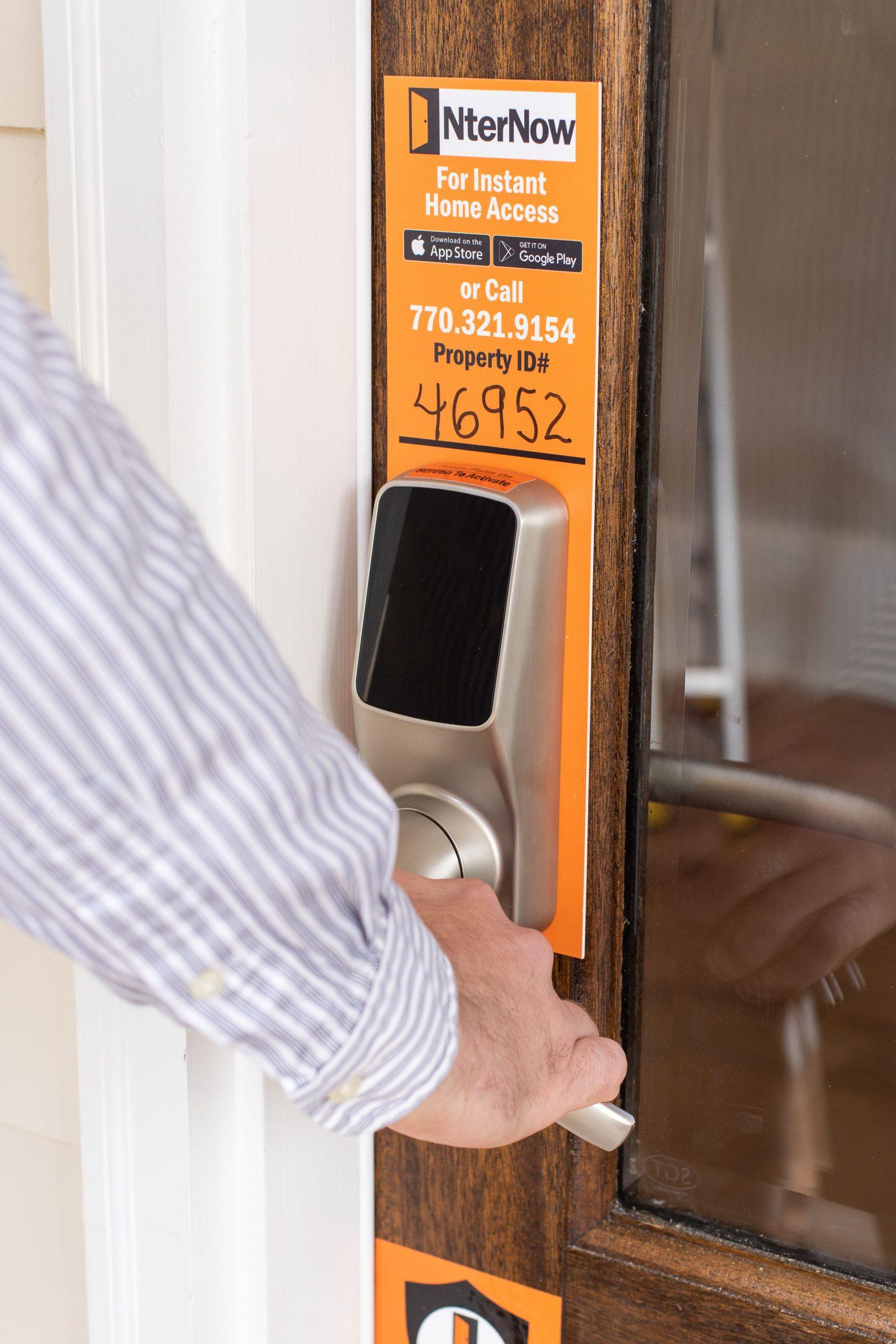 NterNow door lock and instructions