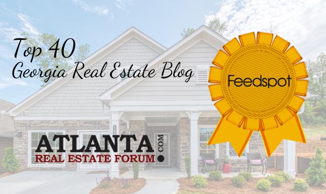 Atlanta Real Estate Forum is named a top 40 real estate blog